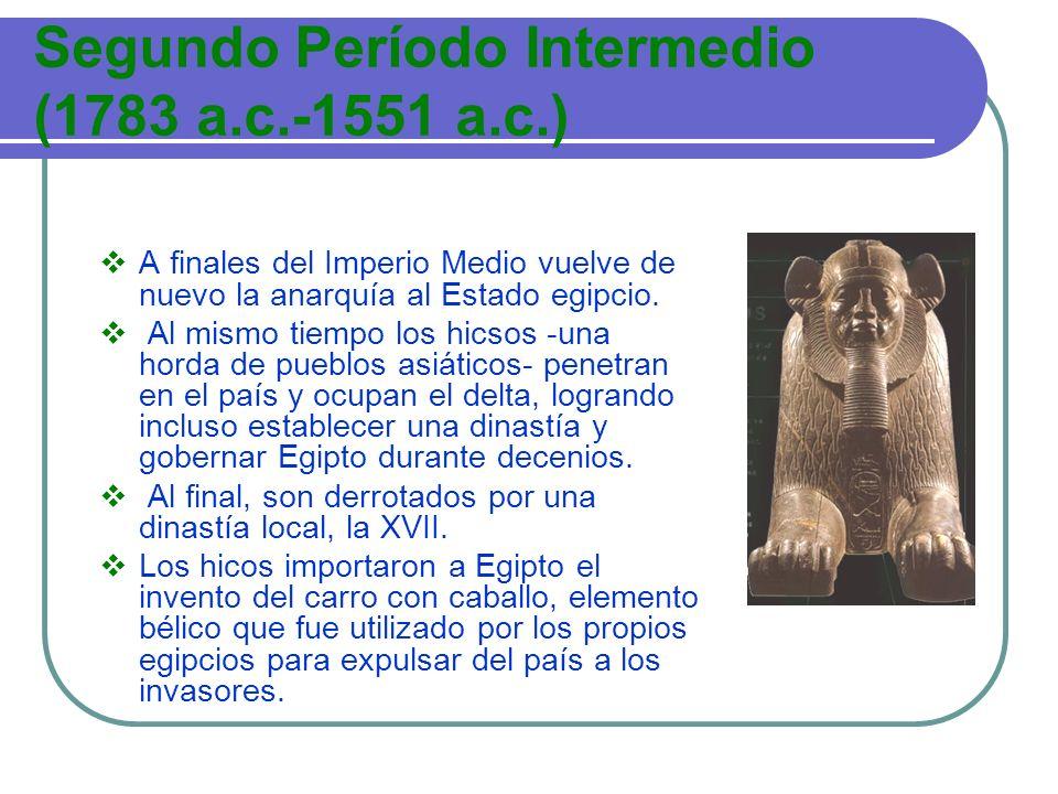 Segundo Período Intermedio (1783 a.c.-1551 a.c.)
