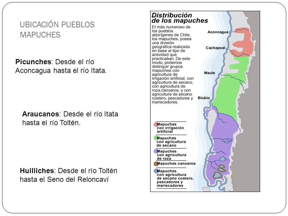 UBICACIÓN PUEBLOS MAPUCHES