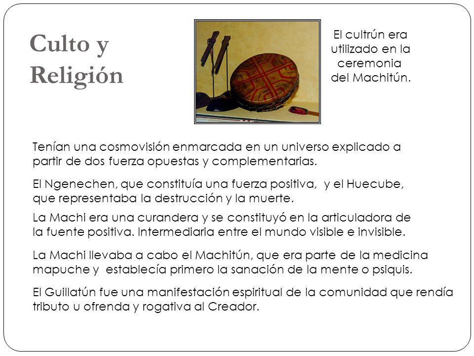 Culto y Religión El cultrún era utilizado en la ceremonia