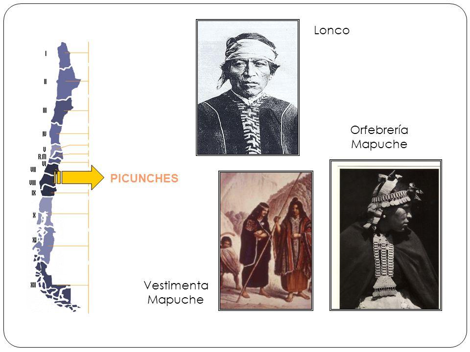 Lonco Orfebrería Mapuche PICUNCHES Vestimenta Mapuche