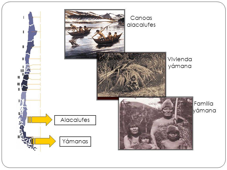 Canoas alacalufes Vivienda yámana Familia yámana Alacalufes Yámanas