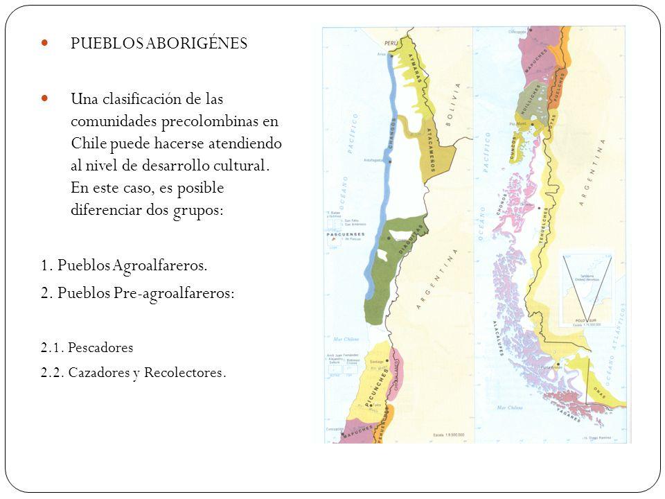 1. Pueblos Agroalfareros. 2. Pueblos Pre-agroalfareros: