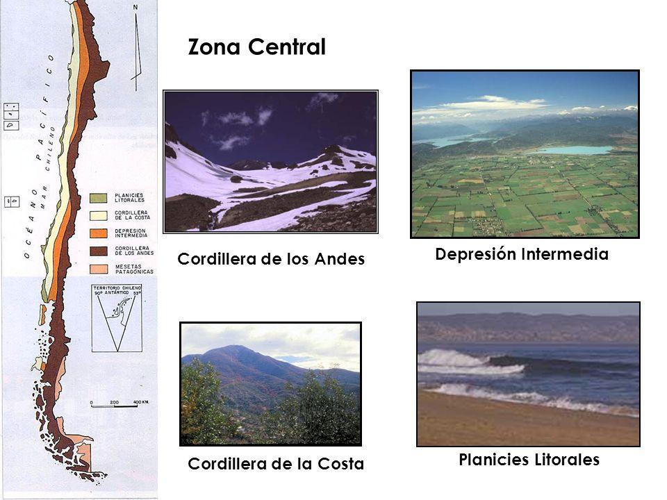 Zona Central Depresión Intermedia Cordillera de los Andes