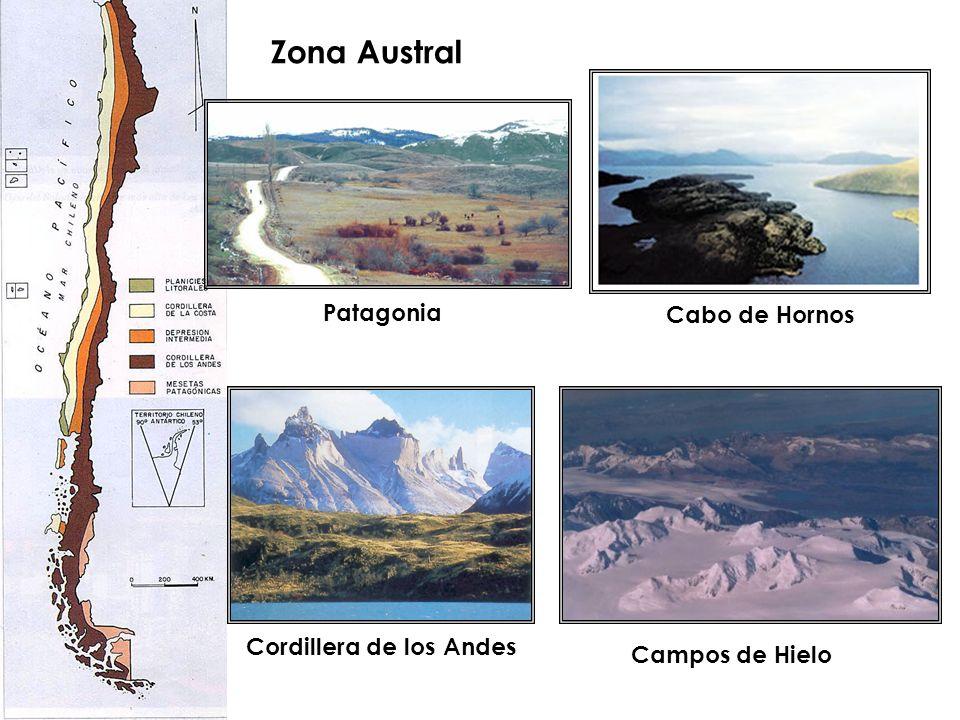 Zona Austral Patagonia Cabo de Hornos Cordillera de los Andes