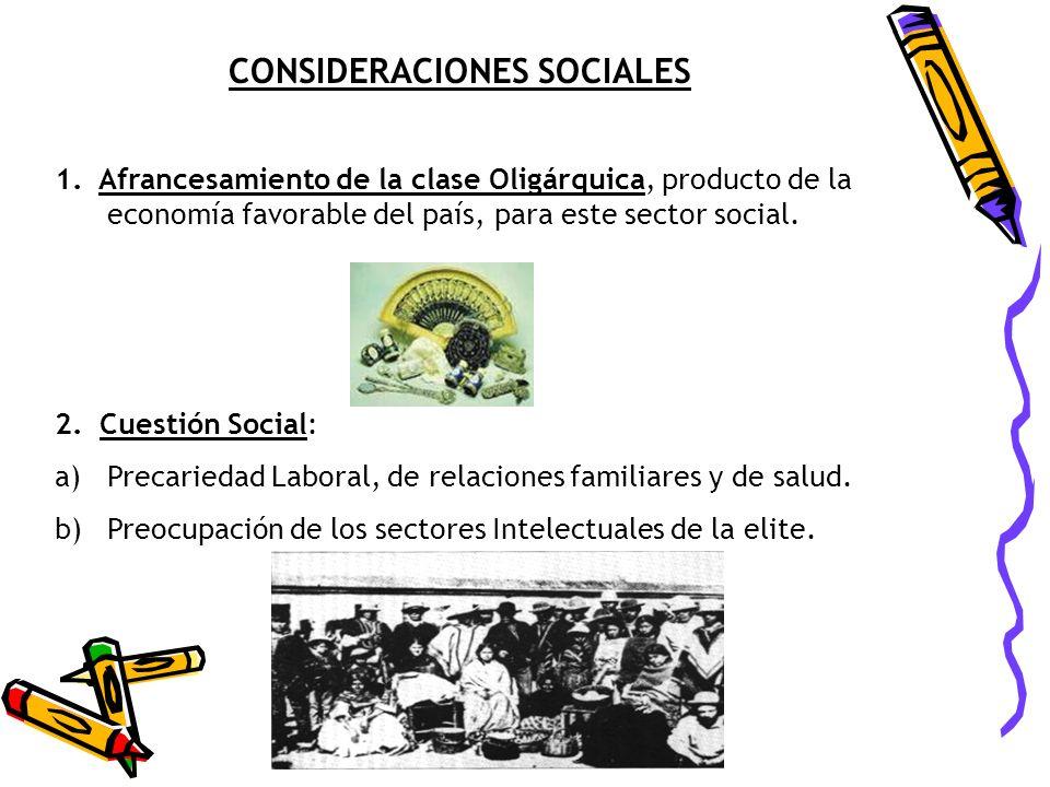 CONSIDERACIONES SOCIALES