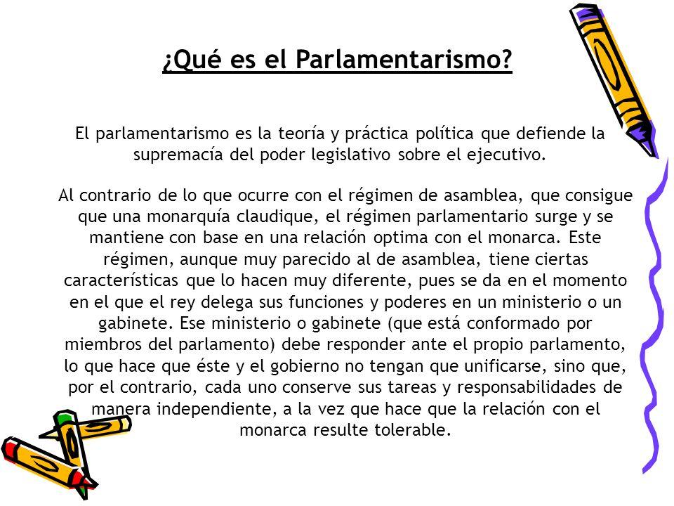 ¿Qué es el Parlamentarismo