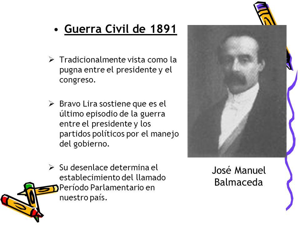 Guerra Civil de 1891 José Manuel Balmaceda