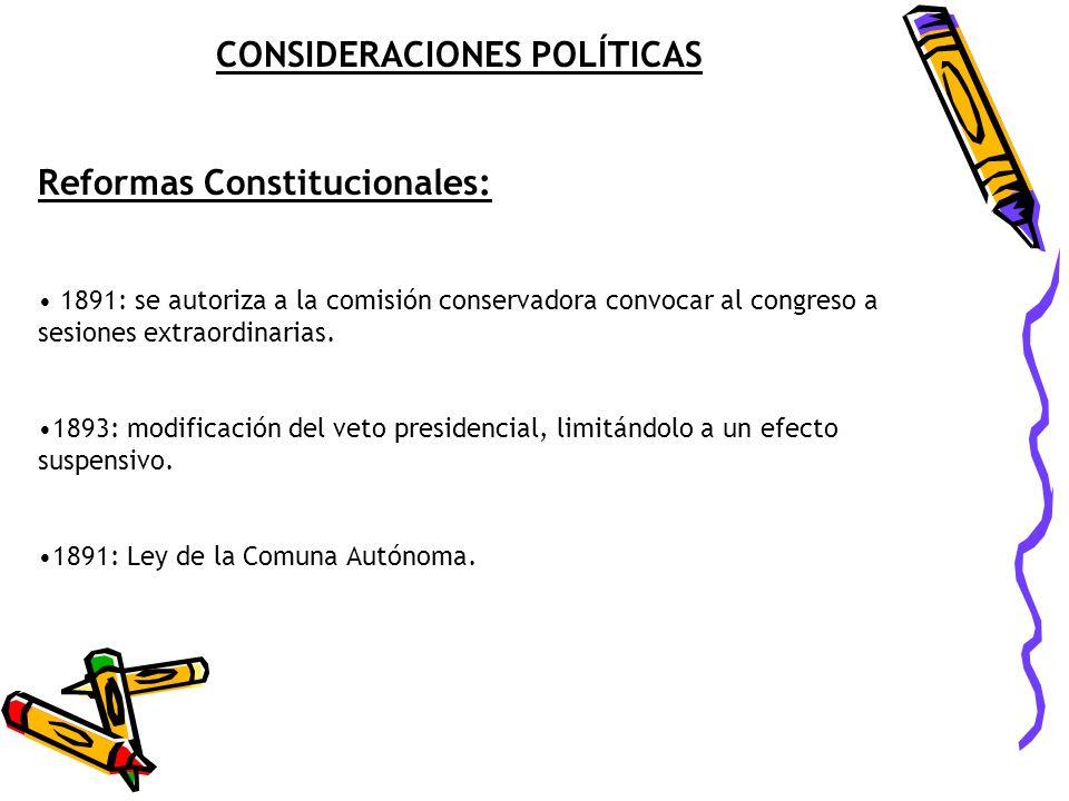 CONSIDERACIONES POLÍTICAS