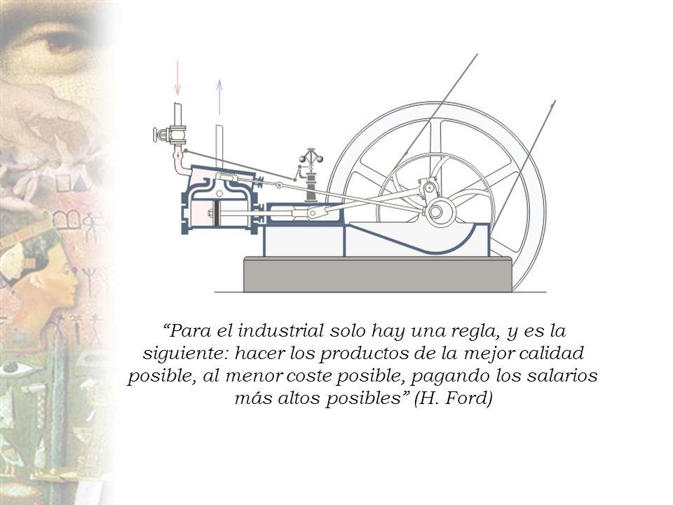 Para el industrial solo hay una regla, y es la siguiente: hacer los productos de la mejor calidad posible, al menor coste posible, pagando los salarios más altos posibles (H.