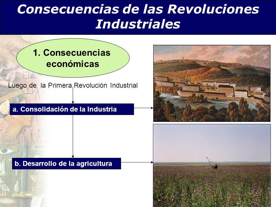 Consecuencias de las Revoluciones Industriales