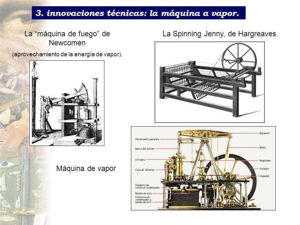 3. innovaciones técnicas: la máquina a vapor.
