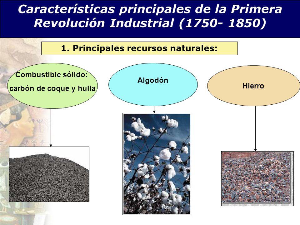 1. Principales recursos naturales: