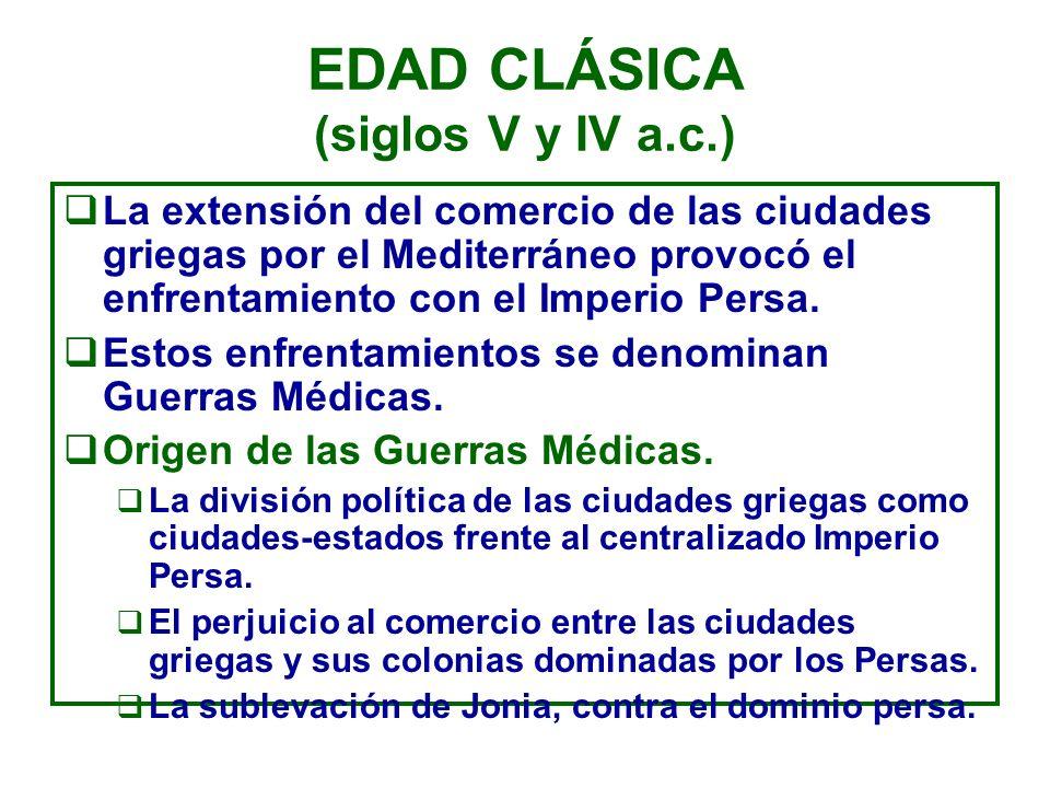 EDAD CLÁSICA (siglos V y IV a.c.)