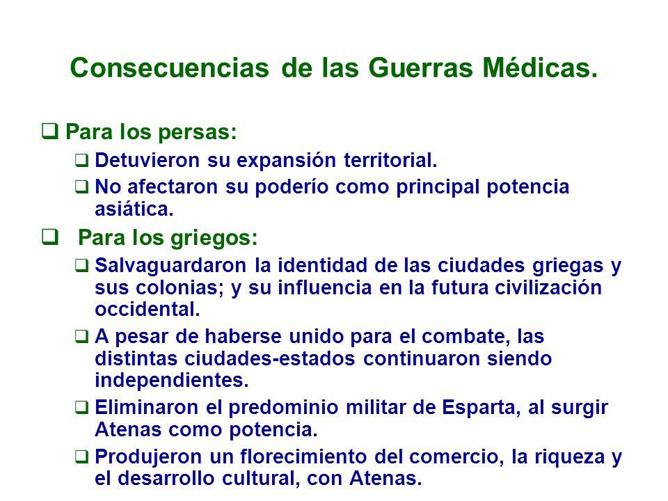 Consecuencias de las Guerras Médicas.