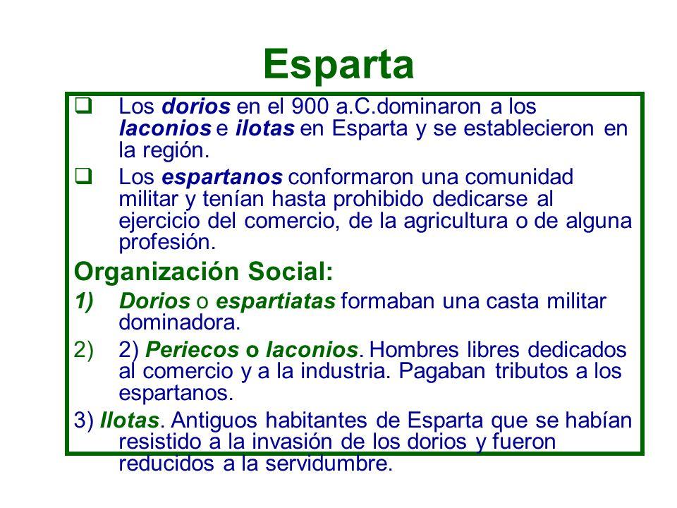Esparta Organización Social: