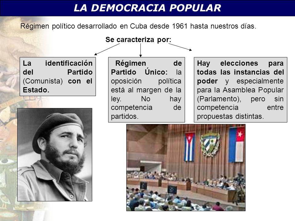 Régimen político desarrollado en Cuba desde 1961 hasta nuestros días.