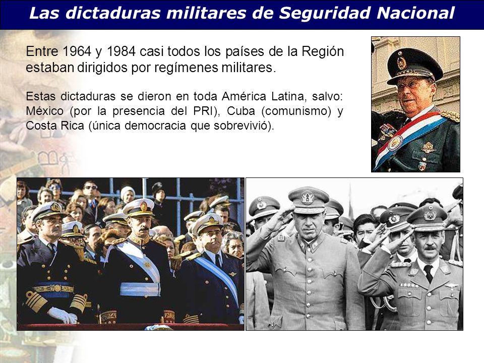 Las dictaduras militares de Seguridad Nacional