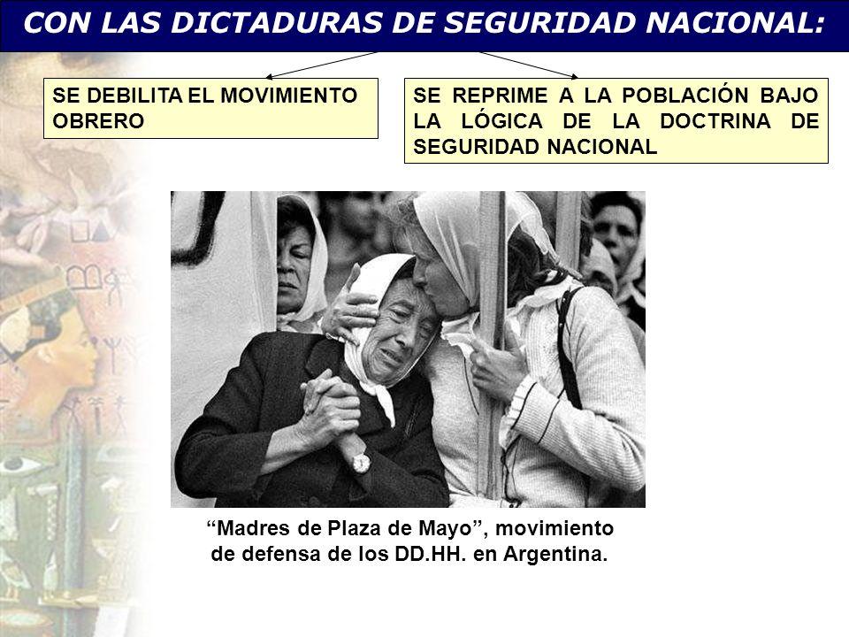 CON LAS DICTADURAS DE SEGURIDAD NACIONAL: