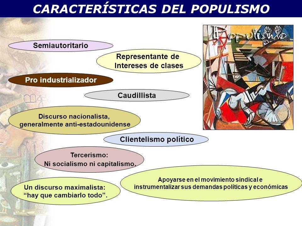 CARACTERÍSTICAS DEL POPULISMO