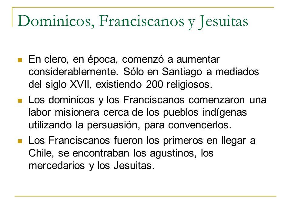 Dominicos, Franciscanos y Jesuitas