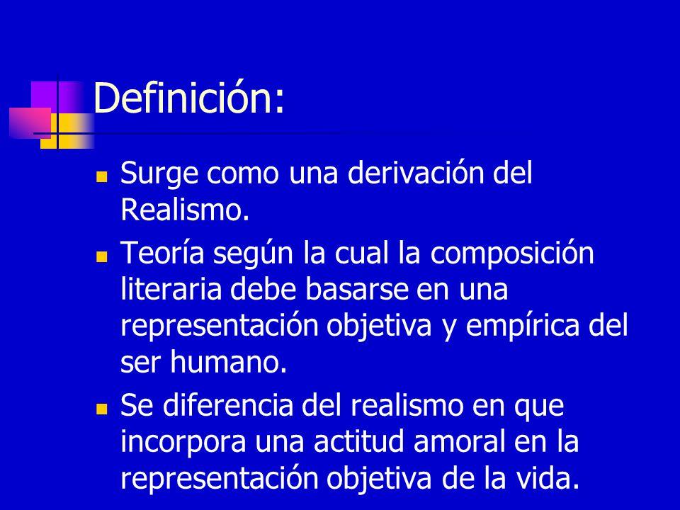 Definición: Surge como una derivación del Realismo.