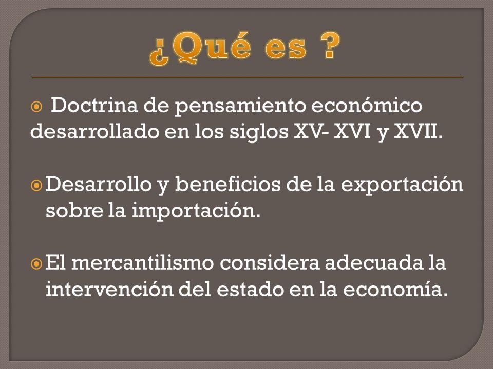 ¿Qué es Doctrina de pensamiento económico