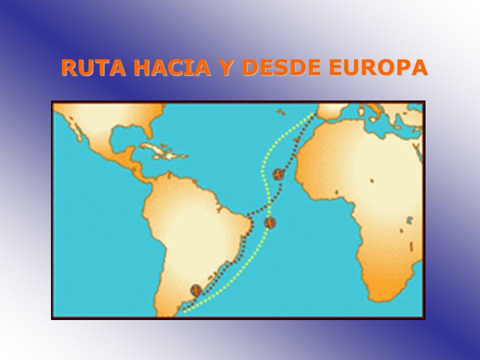 RUTA HACIA Y DESDE EUROPA