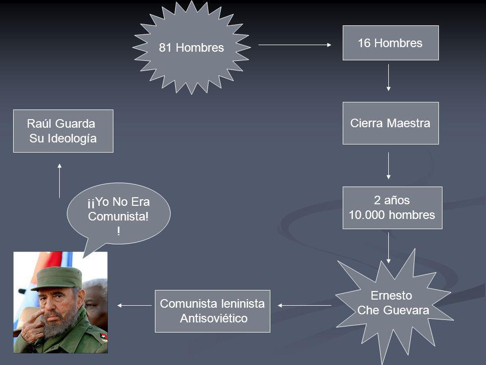 81 Hombres 16 Hombres. Cierra Maestra. Raúl Guarda. Su Ideología. ¡¡Yo No Era Comunista!! 2 años.