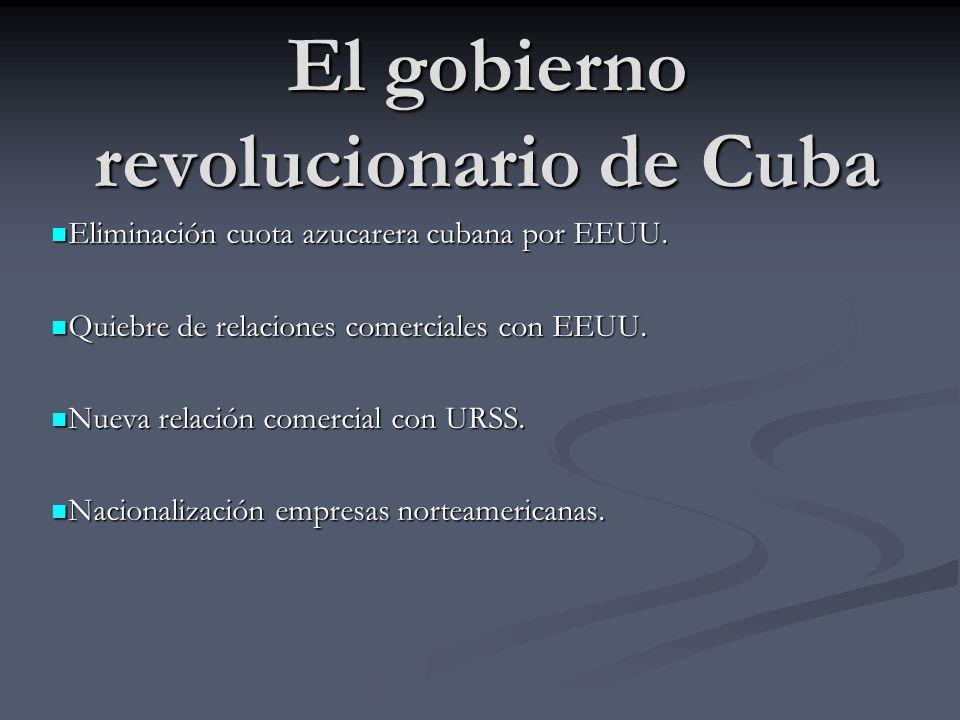 El gobierno revolucionario de Cuba