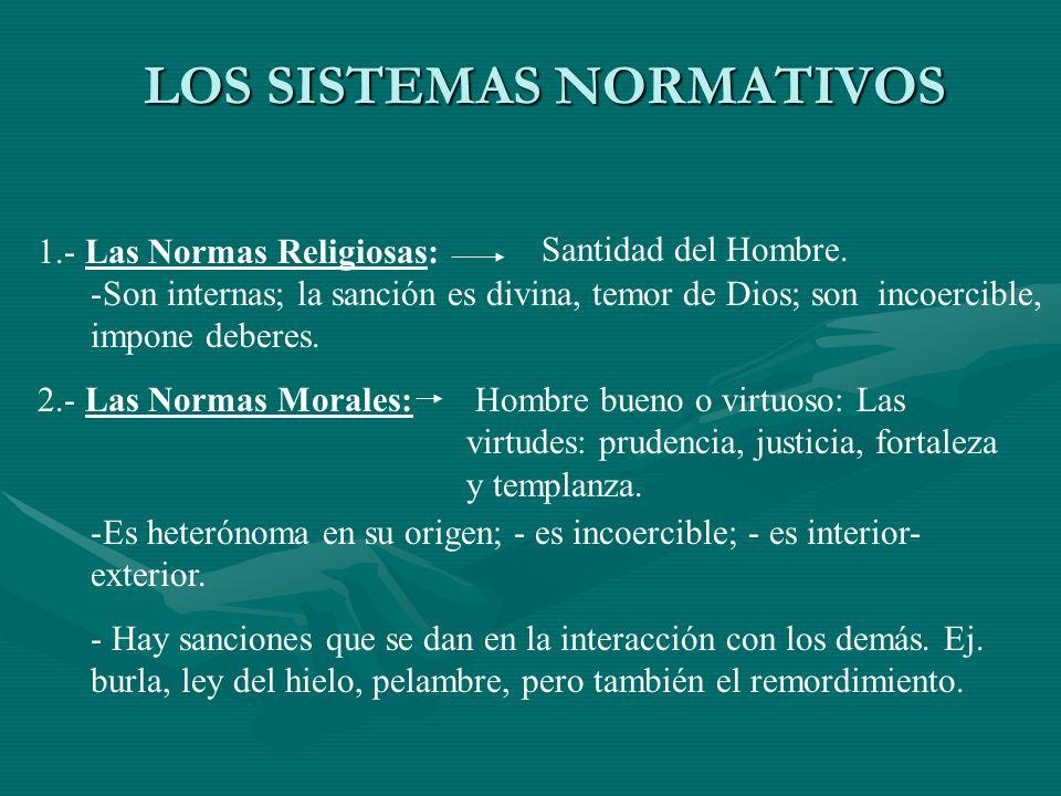 LOS SISTEMAS NORMATIVOS
