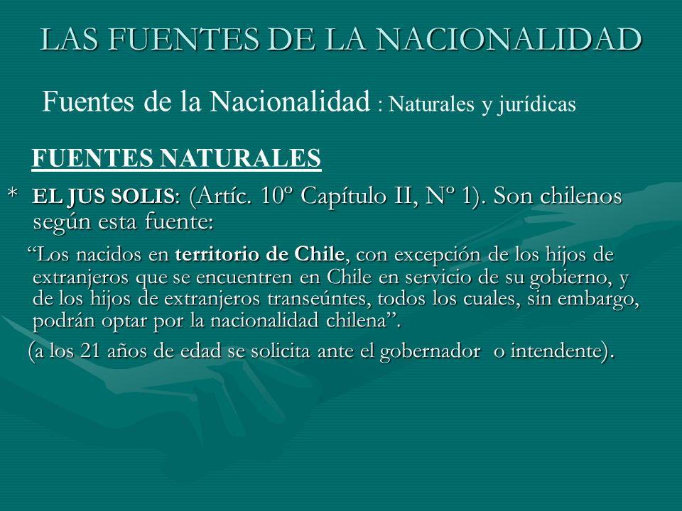 LAS FUENTES DE LA NACIONALIDAD