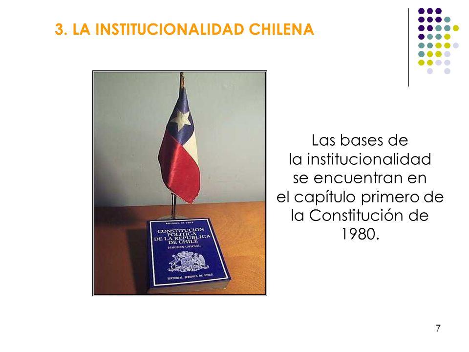 3. LA INSTITUCIONALIDAD CHILENA