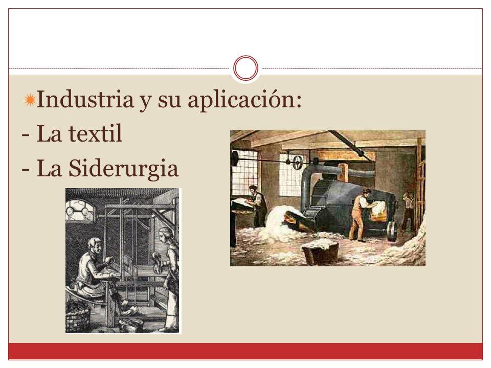 Industria y su aplicación: