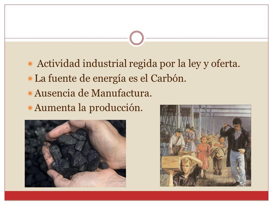 Actividad industrial regida por la ley y oferta.