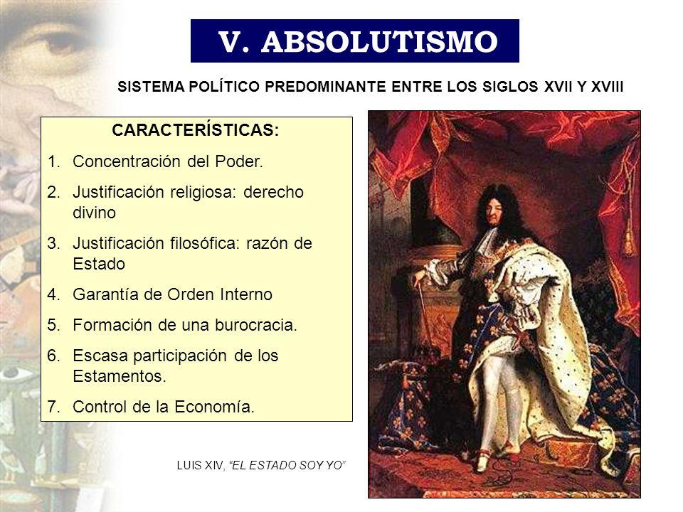SISTEMA POLÍTICO PREDOMINANTE ENTRE LOS SIGLOS XVII Y XVIII