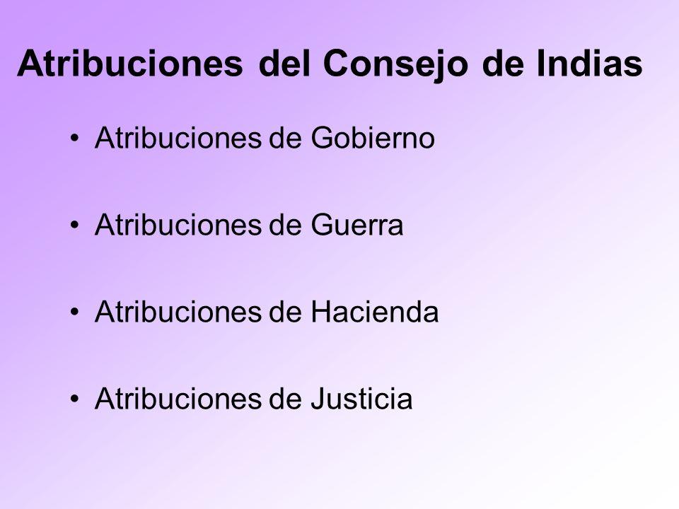 Atribuciones del Consejo de Indias