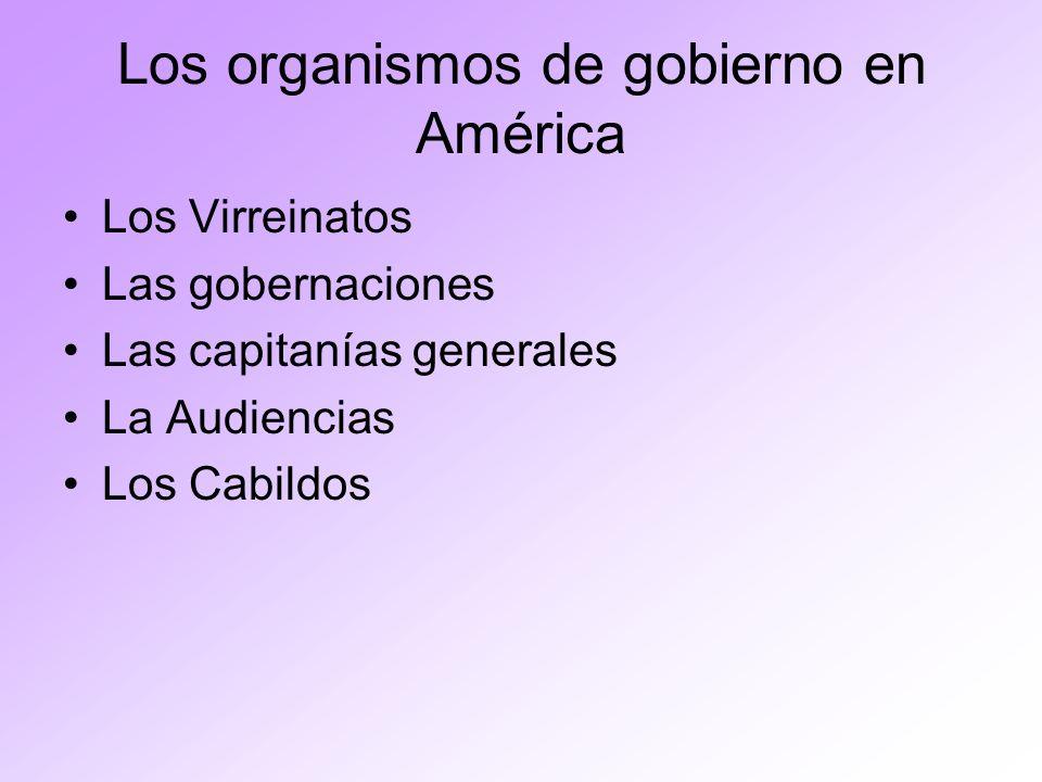 Los organismos de gobierno en América