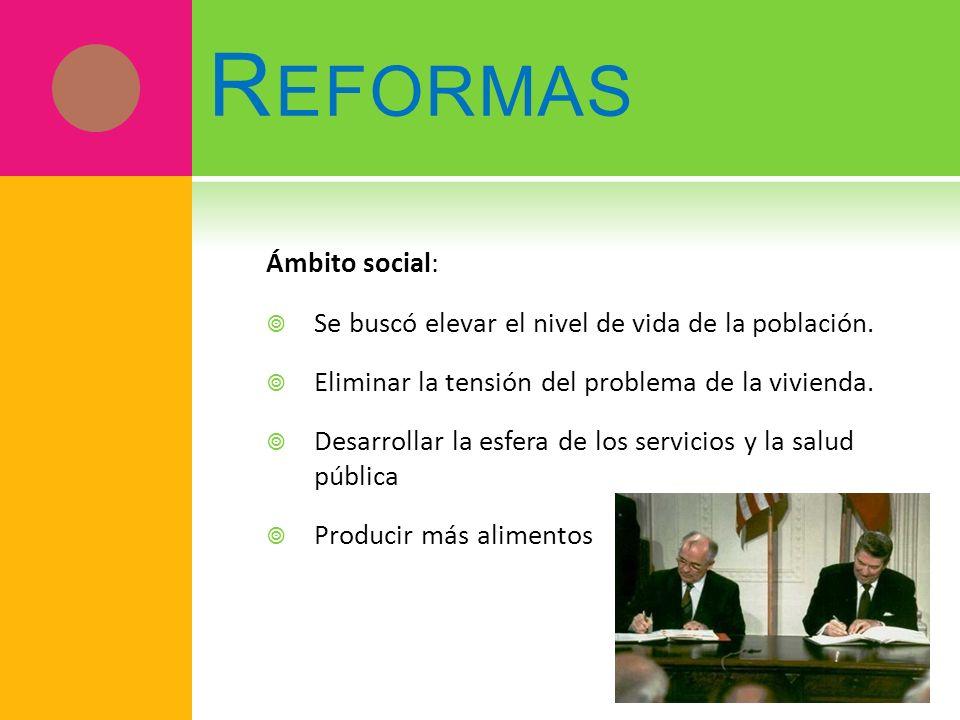 Reformas Ámbito social: