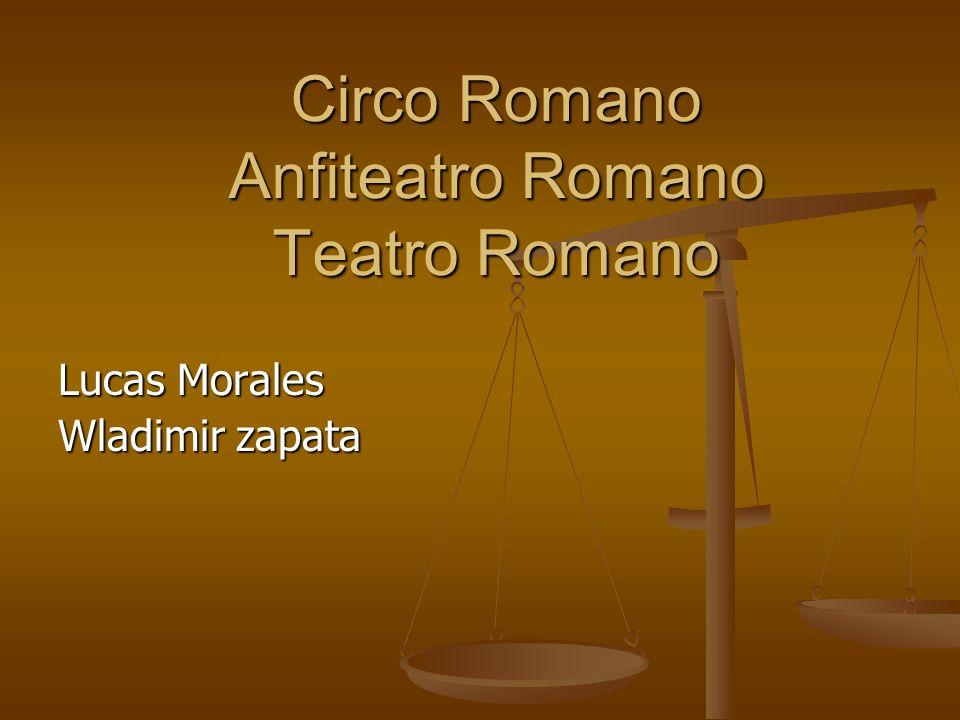 Circo Romano Anfiteatro Romano Teatro Romano