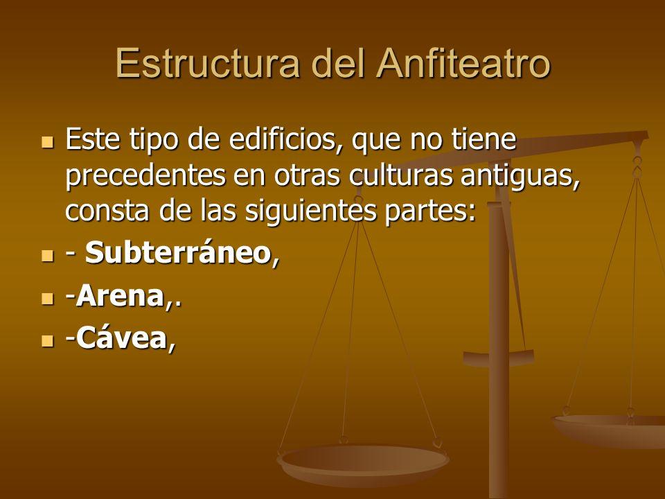 Estructura del Anfiteatro