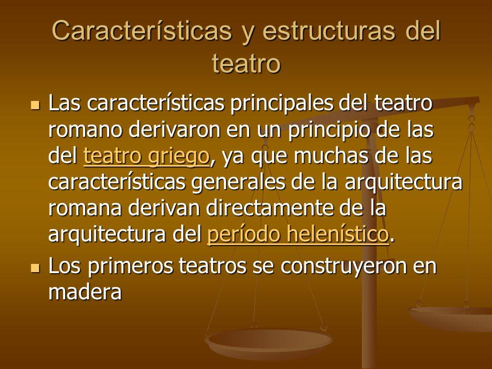 Características y estructuras del teatro