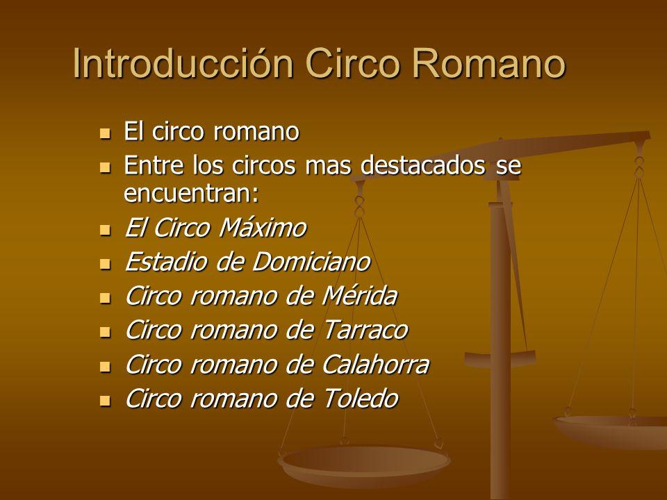 Introducción Circo Romano