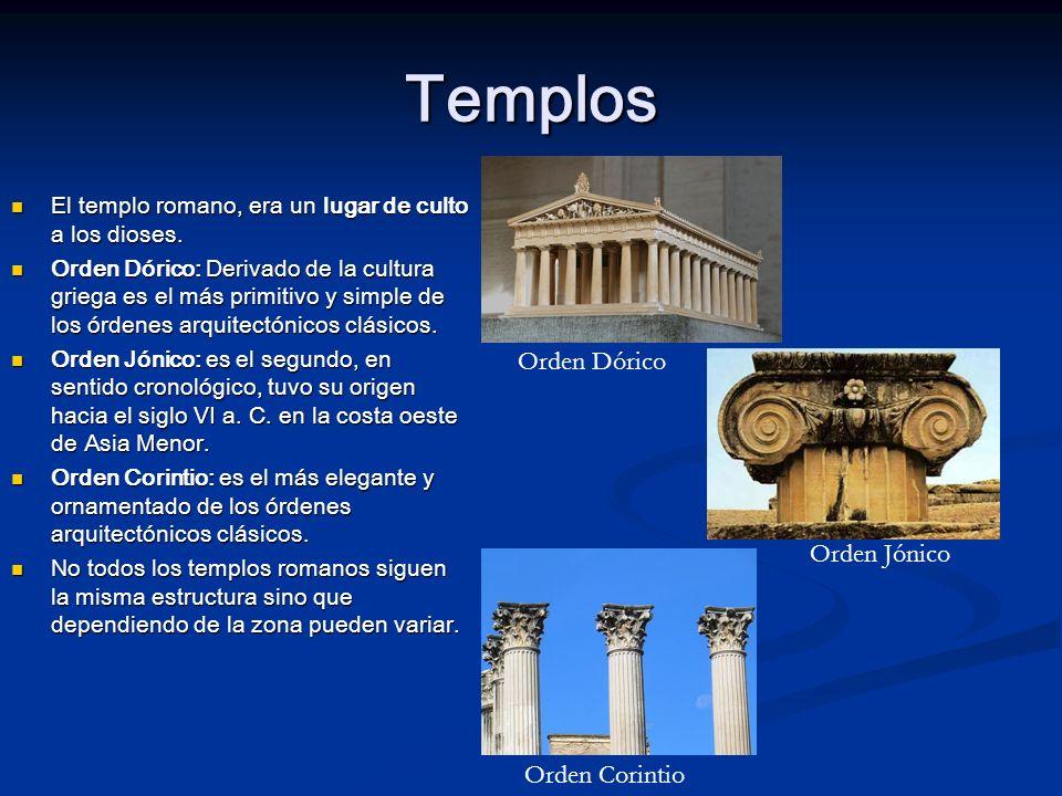 Templos Orden Dórico Orden Jónico Orden Corintio