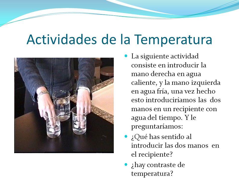 Actividades de la Temperatura
