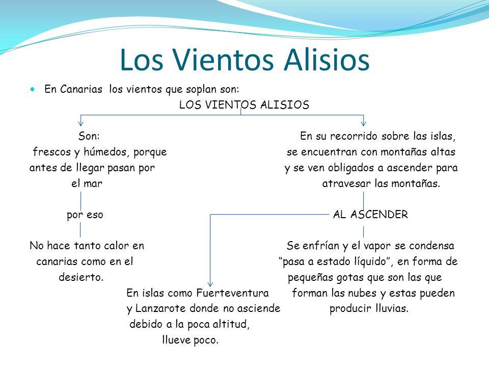 Los Vientos Alisios En Canarias los vientos que soplan son: