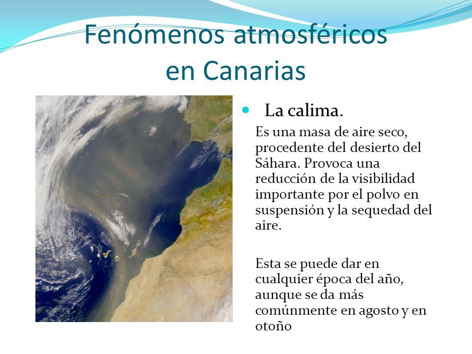 Fenómenos atmosféricos en Canarias