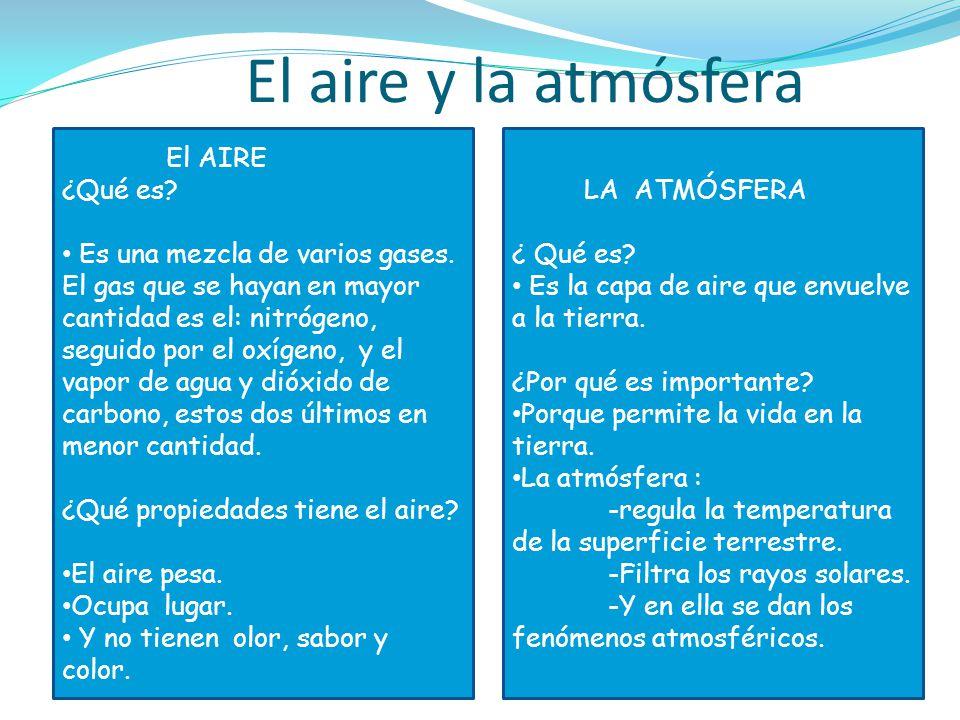 El aire y la atmósfera El AIRE ¿Qué es