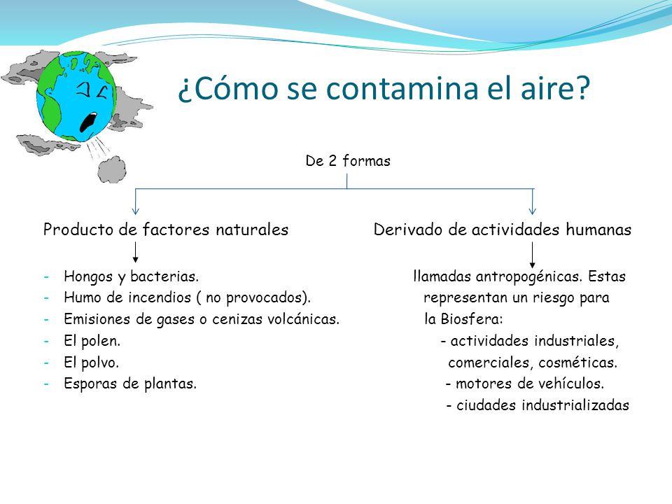 ¿Cómo se contamina el aire