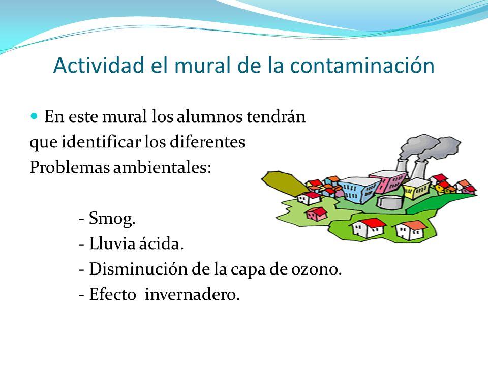 Actividad el mural de la contaminación