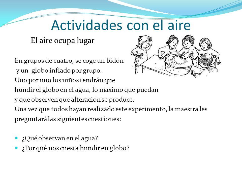 Actividades con el aire